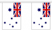 AUSTRALIA NAVY ENSIGN BUNTING - 3 METRES 10 FLAGS